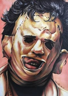 LeatherFace The Texas Chainsaw Massacre by billyboyuk on DeviantArt Comic Movies, Scary Movies, Horror Movies, Arte Horror, Horror Art, Horror Villains, Texas Chainsaw Massacre, Goth Art, Original Movie Posters