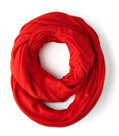 ModCloth Start with the Basics Circle Scarf in Pepper