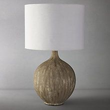 Buy John Lewis Ebony Table Lamp Large Online at johnlewis.com