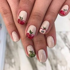 Apple nails, August nails, Bright summer nails, Cheerful nails, Delicious nails, Fruit nails, Resort nails, Summer nails 2017