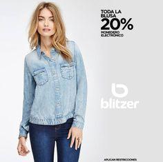 #Aprovechen todas las #blusas al 20% en monedero electrónico. ¡sólo en Blitzer! @eldoradoslp