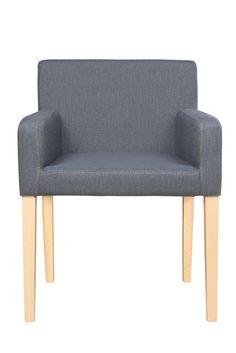 Krzesło wykonane z drewna bukowego , tapicerowane tkaniną lub eko-skórą.