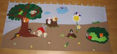 Interactive Wallhanging Wallhanging with fingerpuppets