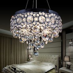ELEGANZO COLLECTION BEAUTIFUL LED BEDROOM CHANDELIER  http://www.justleds.co.za