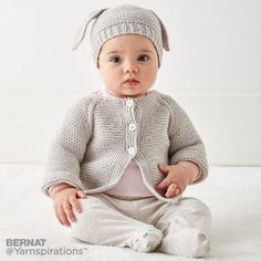 Super Ideas For Knitting Baby Cardigan Pattern Garter Stitch Baby Knitting Patterns Free Newborn, Baby Cardigan Knitting Pattern Free, Baby Sweater Patterns, Knitted Baby Cardigan, Knit Baby Sweaters, Cardigan Pattern, Knit Patterns, Free Knitting, Bernat Baby Sport Yarn