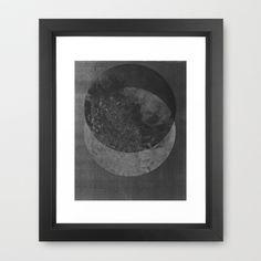 TWO MOON Framed Art Print by RK // DESIGN - $40.00