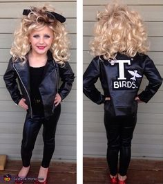 Sandy from Grease – DIY Halloween Costume This little girl is the cutest! Sandy from Grease – DIY Halloween-kostuum Dit kleine meisje is de schattigste !