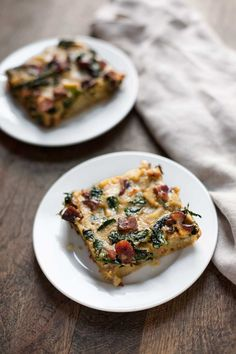 Breakfast Casserole with Bacon, Sausage, Sweet Potato, and Kale | acalculatedwhisk.com
