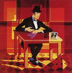 Painting of Fernando Pessoa taken by Almada Negreiros. This work is part of CAM, FCG, Lisboa.