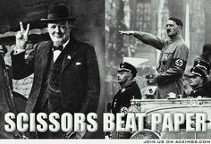 Scissors beat paper