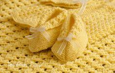 Zapatitos vintage para #bebes tejidos en dos agujas. Vídeo tutorial del paso a paso!