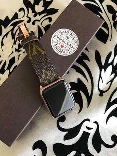 2ada16a60298 Handmade Louis Vuitton Apple Watch Band Series 1 2 3 146mm Сумочки Луи  Виттона, Браслеты