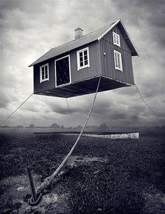 Image: Erik Johansson : 'Maison suédoise dans l'air' (© Erik Johansson)