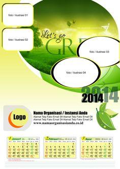 1# Kalender 2014 Green Calendar 2014 Free Download Gratis Kalender 2014 Lingkungan Hijau