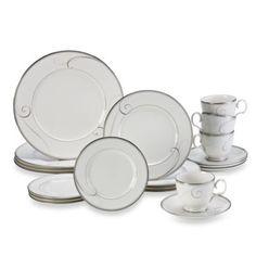 Noritake® Platinum Wave 20-Piece Dinnerware Set - BedBathandBeyond.com