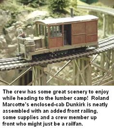 Dunkirk Class A Logging Loco, enclosed cab - Click Image to Close Rolling Stock, Diesel Locomotive, Train Tracks, Ho Scale, Model Building, Model Trains, Buildings, Models, Projects