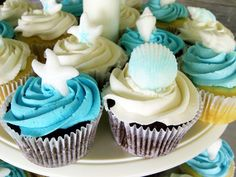 pinterest fishing theme wedding   love the blue lovebirds on top of the white and blue frosted cake ...