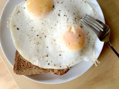 4 minute fried eggs