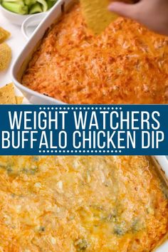 Weight Watchers Buffalo Chicken Dip - - Healthy Buffalo Chicken Dip is a delicious, lighter version of your favorite appetizer! Easy, gluten free, keto & loaded with flavor - you'll love it! Weight Watchers Appetizers, Plats Weight Watchers, Weight Watchers Meal Plans, Weight Watchers Diet, Weight Watchers Bread Recipe, Buffalo Chicken Dips, Poulet Sauce Buffalo, Ritz Chicken, Ww Recipes