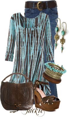 """""""Tunic and Jeans"""" by jackie22 on Polyvore"""