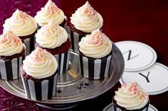 Made popular by New York's Waldorf Astoria hotel, these cakes are five star.  Simple to make yet spectacular as a centrepiece, these red velvet cakes with cream cheese icing are luxurious.