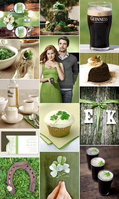 {Inspiration} A Rustic St. Patrick's Day Engagement Party from our Pixel & Ink Blog. Green Wedding or Bridal Shower