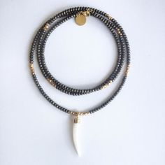 Seraphina - Pyrite & Mother of Pearl - Lumina Jewels | Artisan Jewelry with Edgy, Modern Glamour