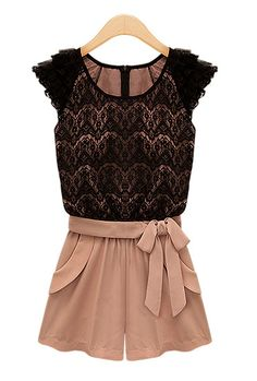 Socialite Mingle Lace Romper in Dust Pink/Black | Sincerely Sweet Boutique