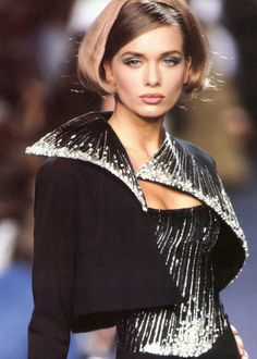 Angelika Kallio, Lanvin by montana  F/W 1991 Haute Couture