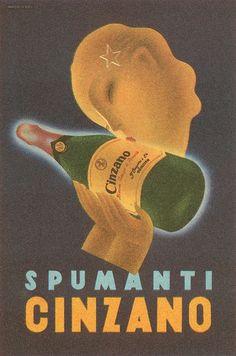 Vintage Italian Posters ~ #illustrator #Italian #posters #vintage ~ CINZANO