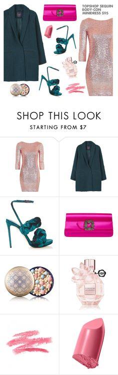 """Winter Dresses Under $100 - Glam style"" by dorinela-hamamci on Polyvore featuring Topshop, MANGO, Marco de Vincenzo, Manolo Blahnik, Guerlain, Viktor & Rolf, Bobbi Brown Cosmetics, under100, polyvorecontest and polyvoreditorial"