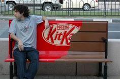 Kitkat - Guerilla Marketing #advertising