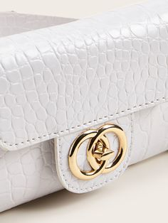 Ad: Twist Lock Croc Embossed Fanny Pack. Tags: Casual, 100% PU, White, No, Adjustable, Small, Crocodile #fashion #womenfashion #womenclothes #shein Bum Bags, Crocodile, Fanny Pack, Crocs, Chanel, Shoulder Bag, Tags, Casual, Women