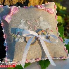 Свадебная подушечка для колец Вместе навсегда