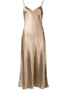Shop Vince metallic shift dress.