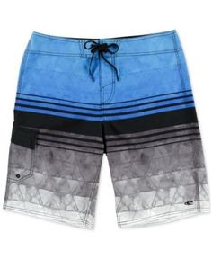 O Neill Men s Calypso Stripe Boardshorts - Blue 34 c12e09cdbce