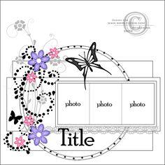 3 Photos, Circles and Flourishes