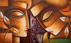 krishna radha paintings - Google Search