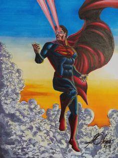 Prismacolor on Paper. Prismacolor, Superman, Paper, Artwork, Painting, Work Of Art, Auguste Rodin Artwork, Painting Art, Artworks