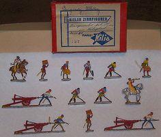 Lead Toys and Figures 152938: Kieler Zinnfiguren Flats Burgundy Artillery Ca 1950 Made In Germany -> BUY IT NOW ONLY: $75 on eBay!