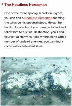 Skyrim secrets: The Headless Horseman in Hamvir's Rest