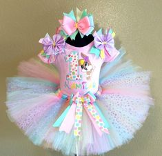 Baby Bunny Lola Looney Tunes Birthday Girls Tutu Outfit