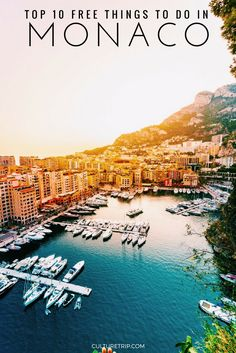 Top 10 Free Things to do in Monaco (Monte Carlo), France Nice France, South Of France, Places To Travel, Travel Destinations, Oh The Places You'll Go, Hidden Places, Monte Carlo Monaco, Europa Tour, Bon Plan Voyage