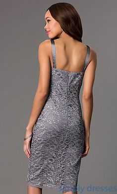 Shop SimplyDresses for lace cocktail dresses and short dresses with jacket at SimplyDresses. Knee length lace dress with matching bolero for parties.