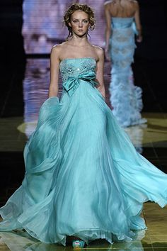 Pair this for bridesmaids with the Oscar de la Renta lace wedding gown with the blue silk train... stunning...