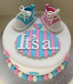 Twin unisex baby shower cake