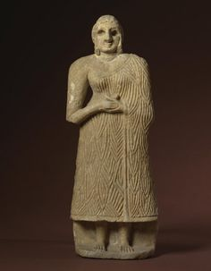 Sumerian Alabaster Figure of a Worshiper, Early Dynastic III, c. 2800-2550 BC This example is similar to others found at the temple of Sin (phase VIII) at Khafajah, an archaeological site in Diyala Province,Iraq. It was part of the ancient Sumerian city-state of Eshnunna in central Mesopotamia. The site lies 7 miles east of Baghdad.