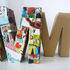 3D Comic Book Letters - there's a guy in my life that would like this, me thinks!