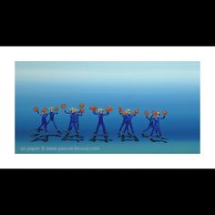 CHEERLEADERS , from an oil painting by Pascal Lecocq.Giclee reproduction Limited Edition Fine art – archival digital printing on watercolor paper using pigment based inks $169.00