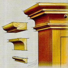 The Collection of 1600 Woodworking Plans - Classic Cove Molding - Furniture Molding Projects and Techniques - Woodwork, Woodworking, Woodworking Plans, Woodworking Projects Get A Lifetime Of Project Ideas and Inspiration! Router Woodworking, Woodworking Techniques, Woodworking Videos, Woodworking Furniture, Fine Woodworking, Woodworking Projects, Router Jig, Woodworking Classes, Woodworking Machinery